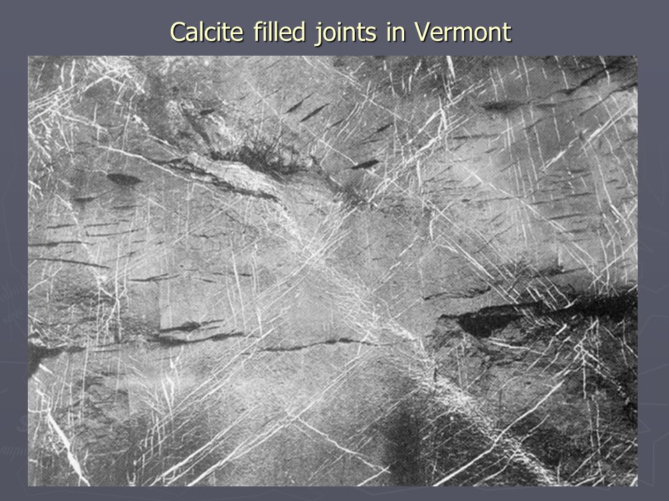 Calcite filled joints in Vermont