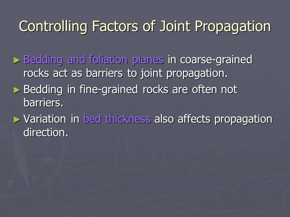 Controlling Factors of Joint Propagation