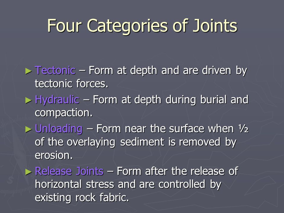 Four Categories of Joints