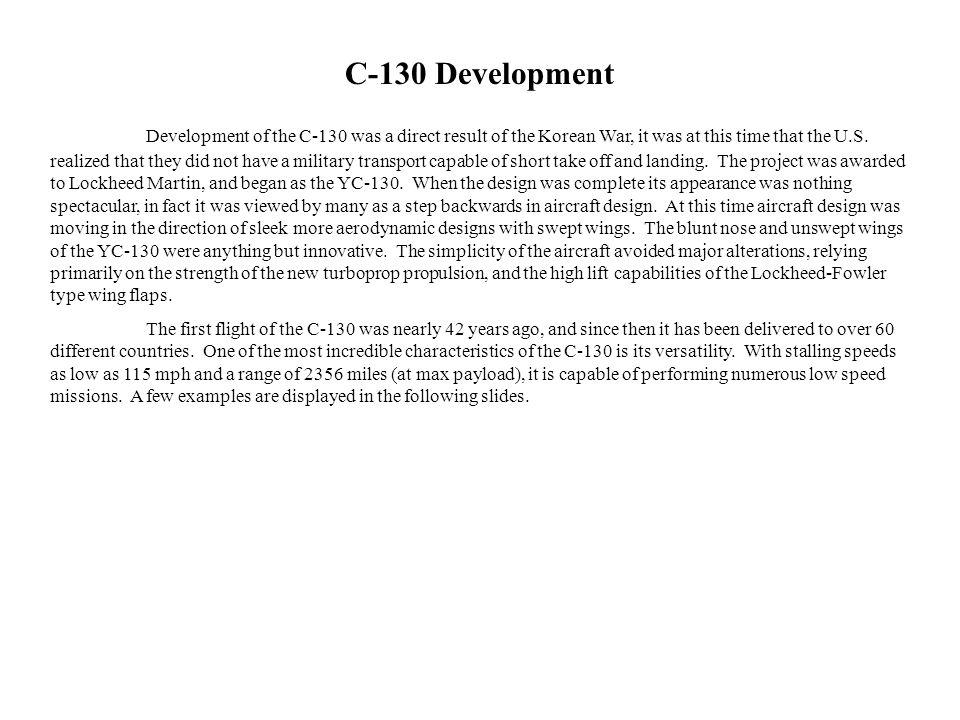 C-130 Development
