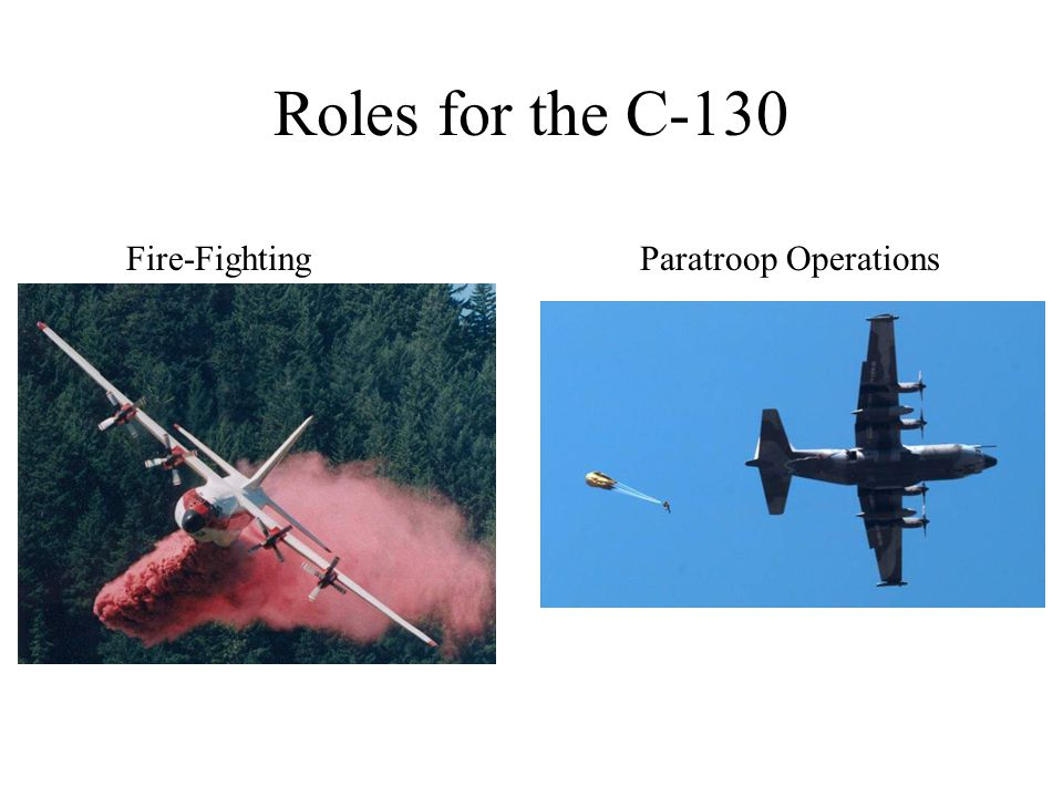 Roles for the C-130 Fire-Fighting Paratroop Operations
