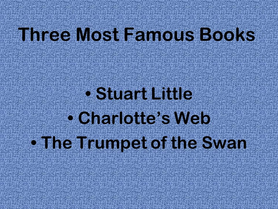 Three Most Famous Books
