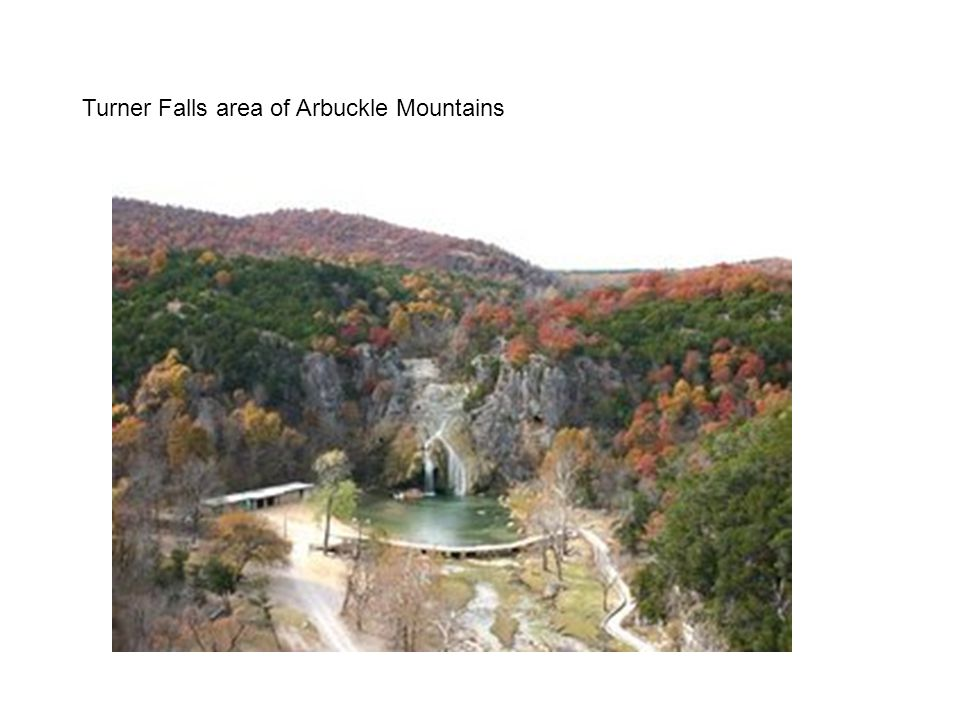 Turner Falls area of Arbuckle Mountains