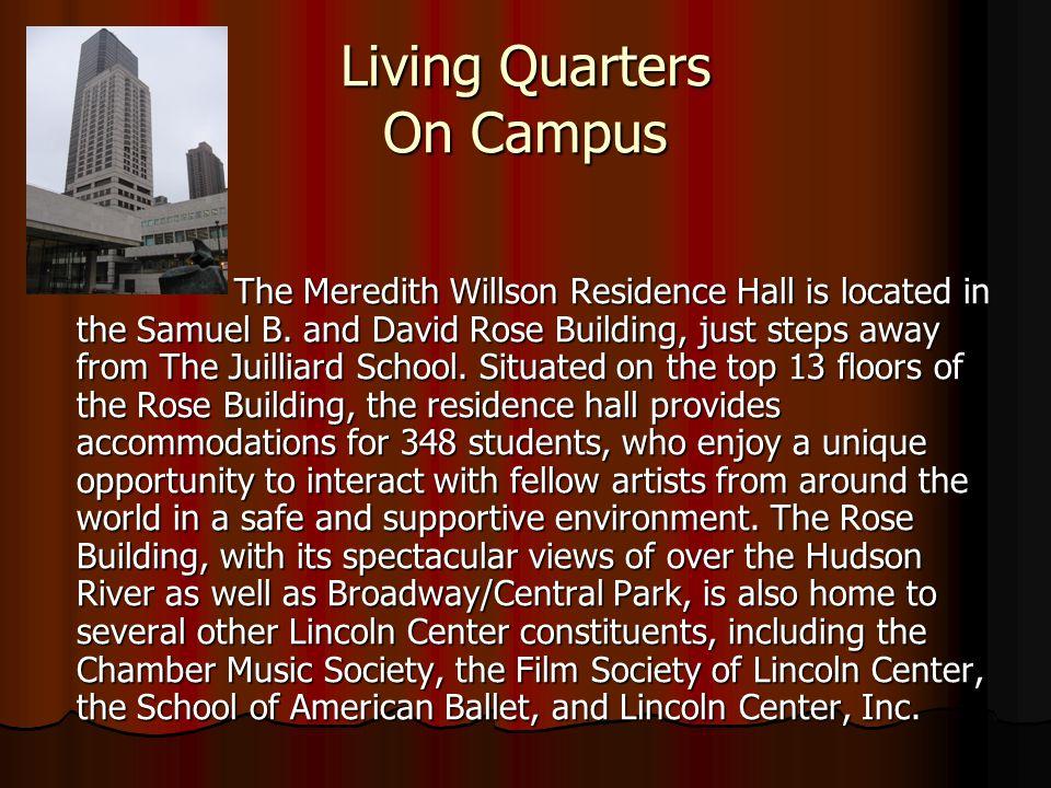 Living Quarters On Campus