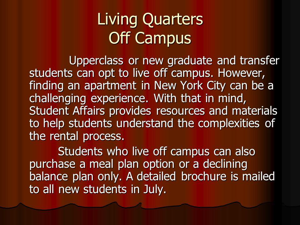 Living Quarters Off Campus
