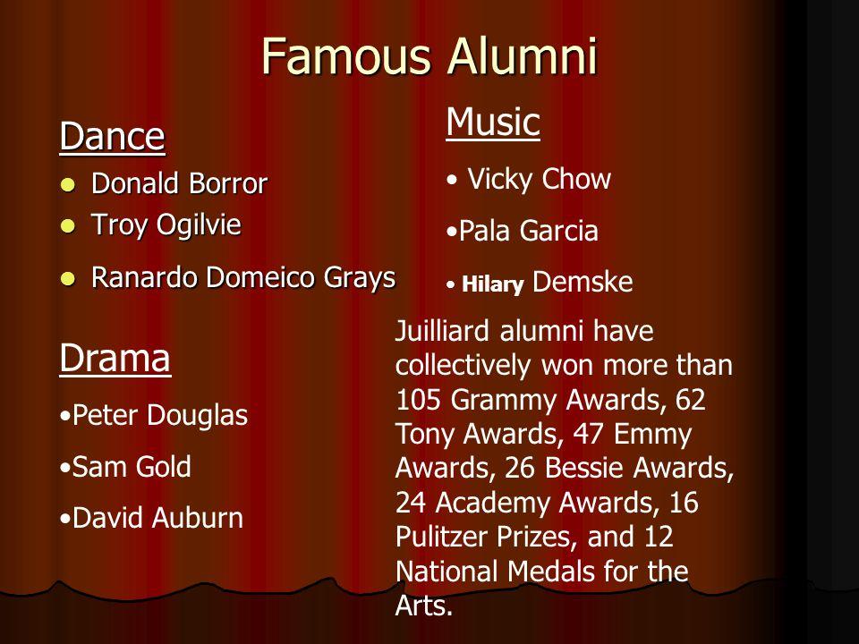 Famous Alumni Music Dance Drama Vicky Chow Donald Borror Pala Garcia