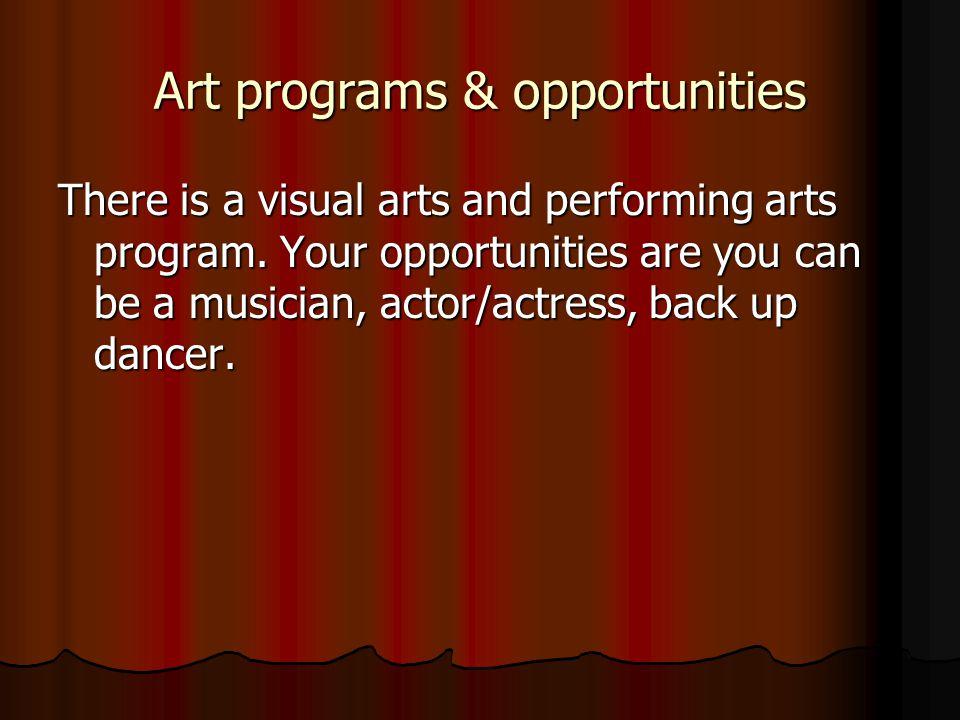 Art programs & opportunities
