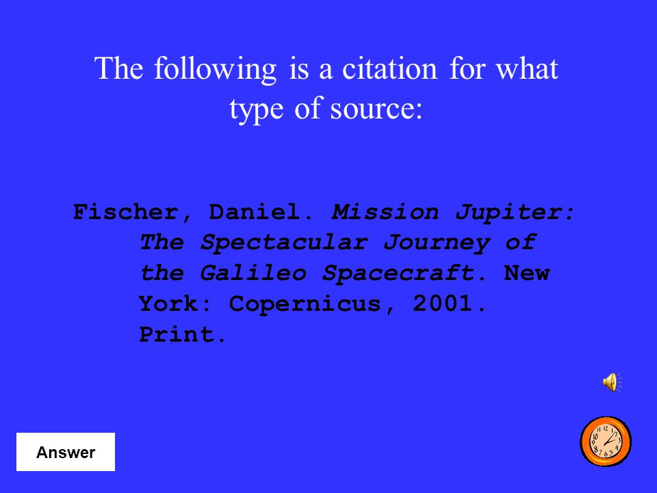 The following is a citation for what type of source:
