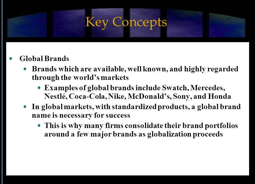Key Concepts Global Brands