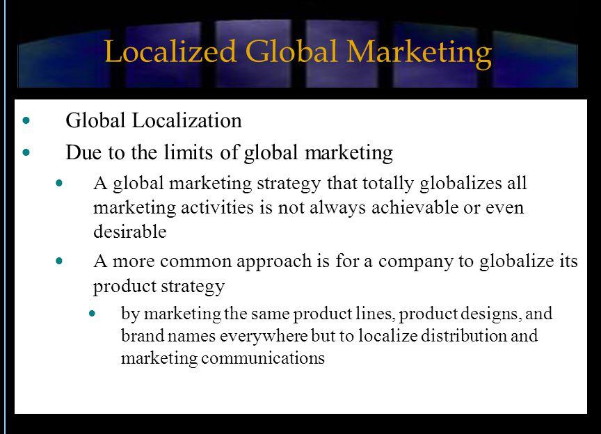 Localized Global Marketing