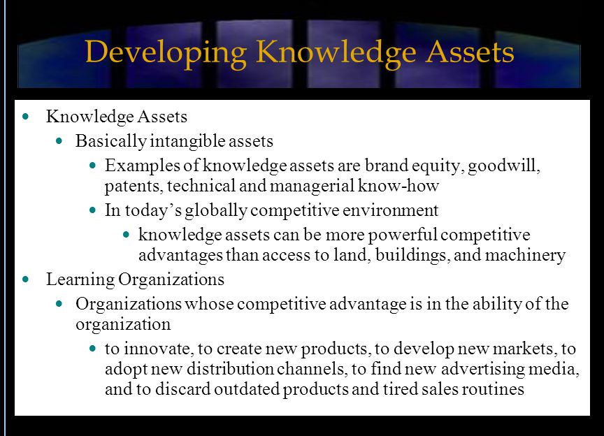 Developing Knowledge Assets