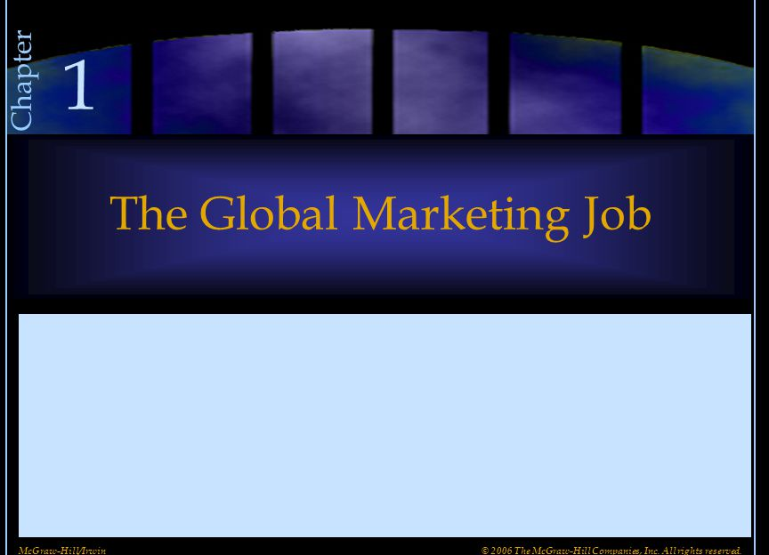 The Global Marketing Job