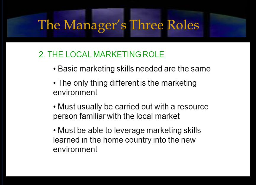 The Manager's Three Roles