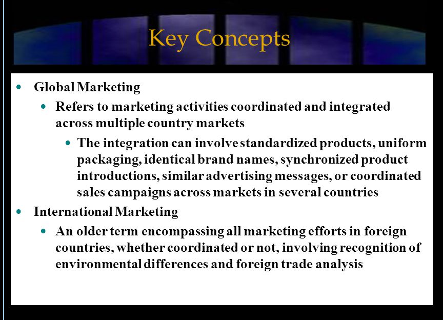 Key Concepts Global Marketing