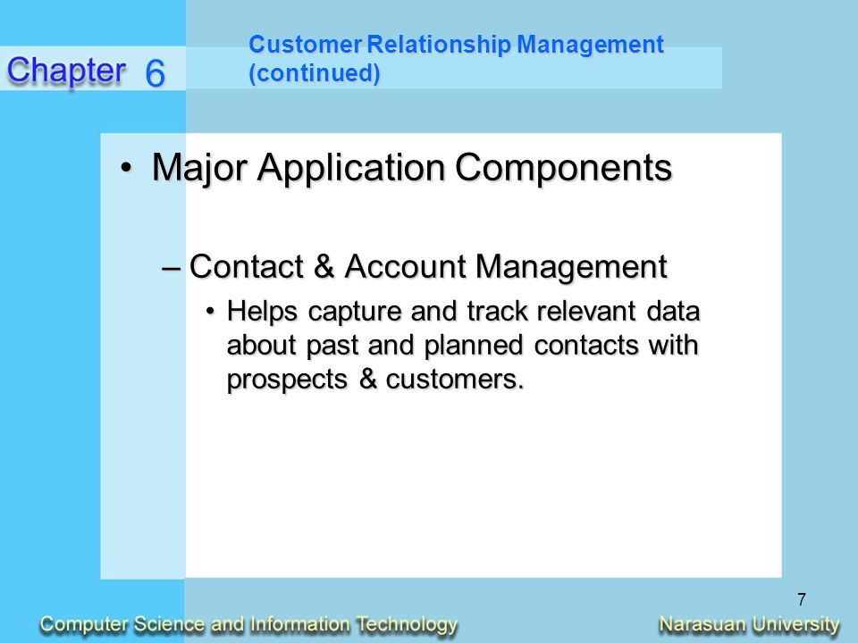 Major Application Components