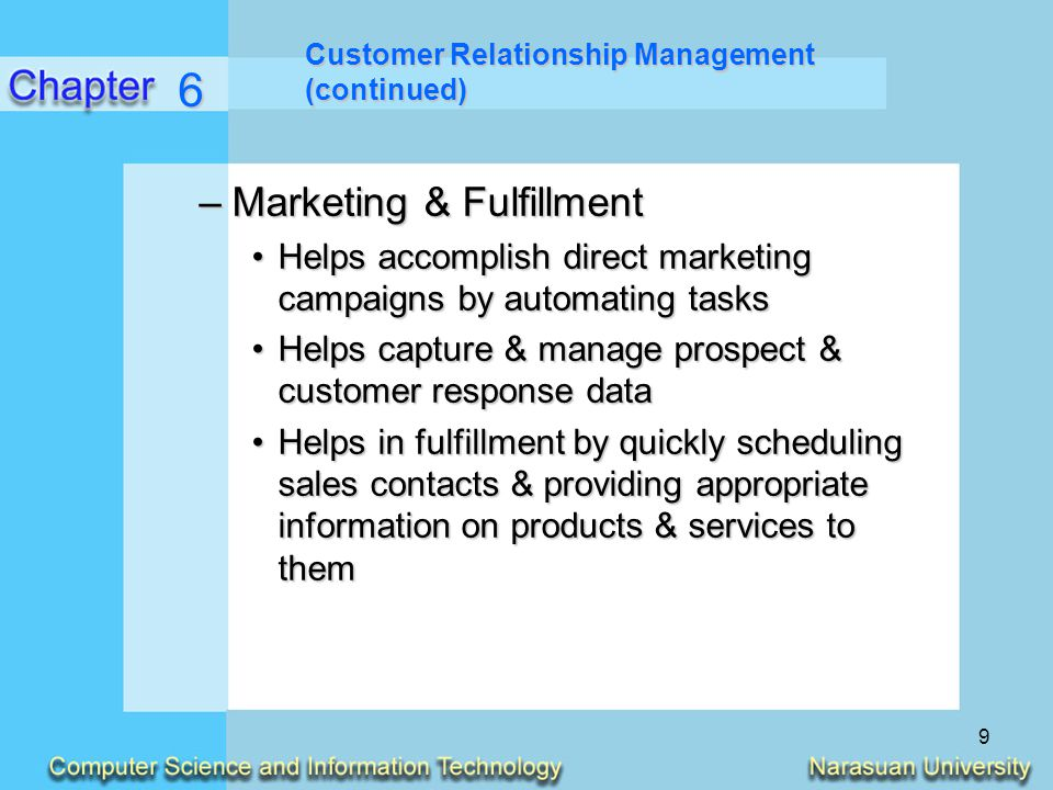 6 Marketing & Fulfillment