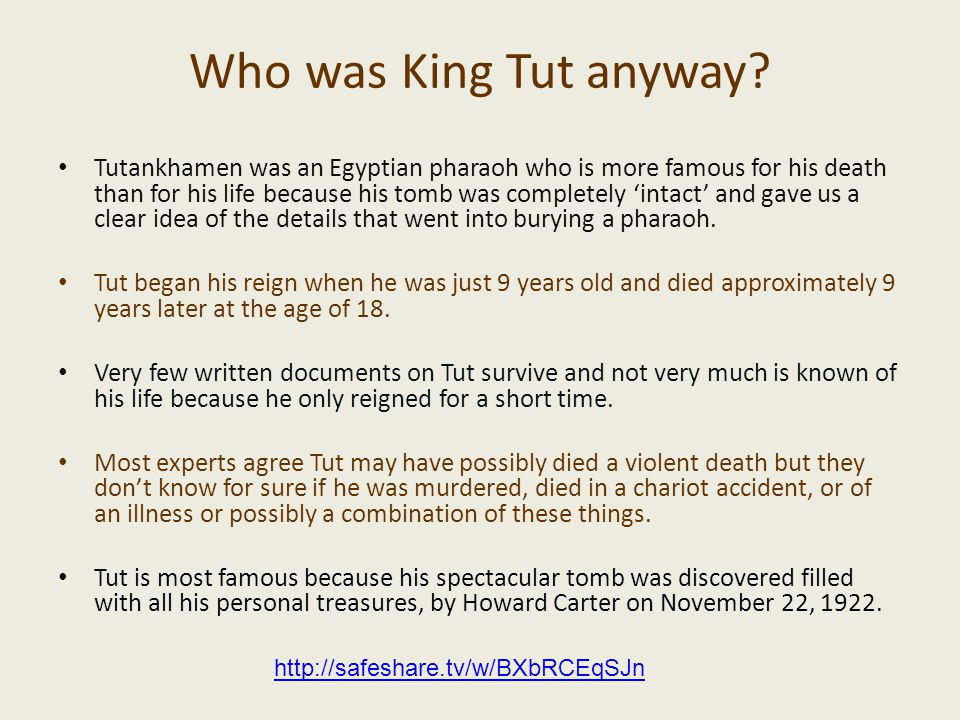 Who was King Tut anyway