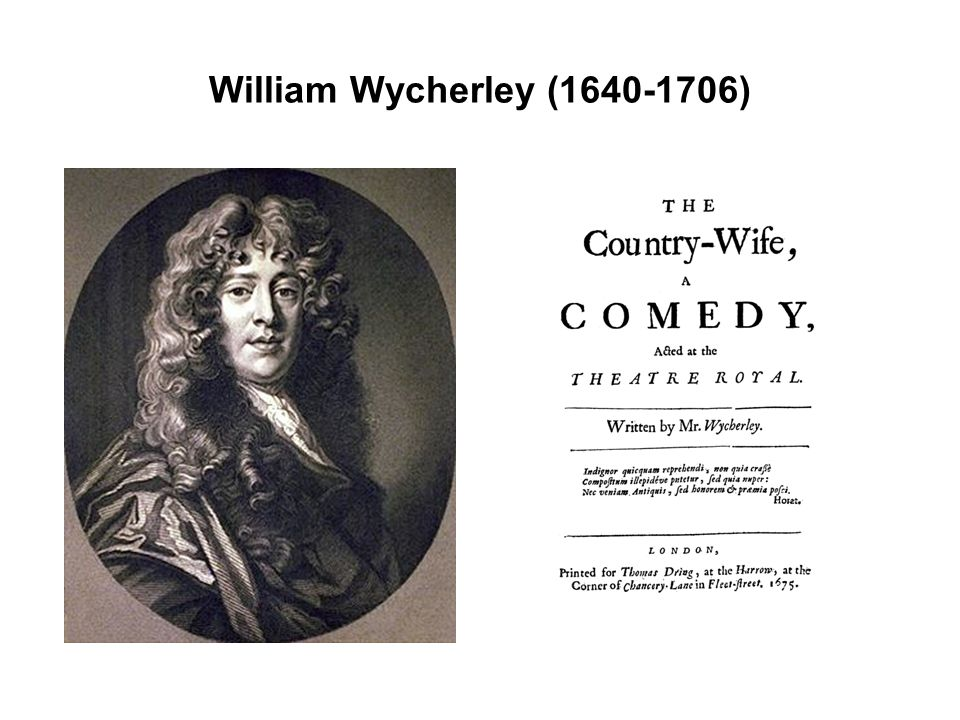 William Wycherley (1640-1706)