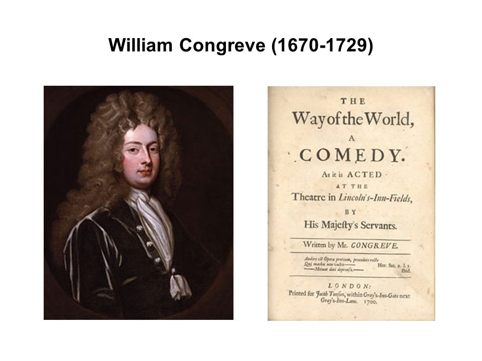 William Congreve (1670-1729)