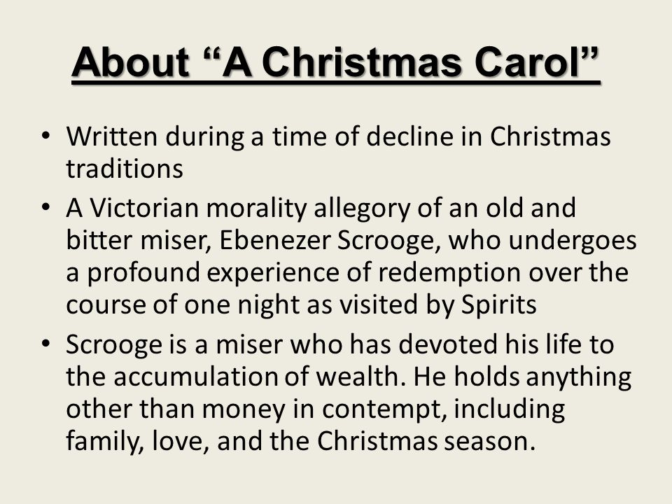 About A Christmas Carol