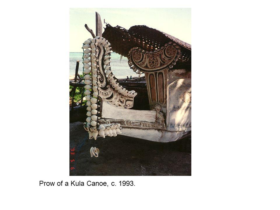 Prow of a Kula Canoe, c. 1993.