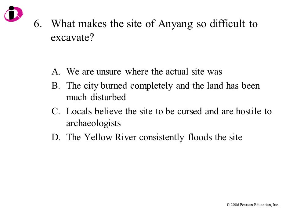 6. What makes the site of Anyang so difficult to excavate
