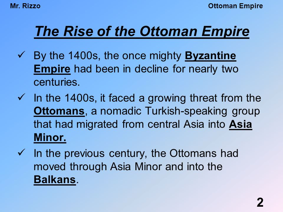 The rise of the ottoman empire essay
