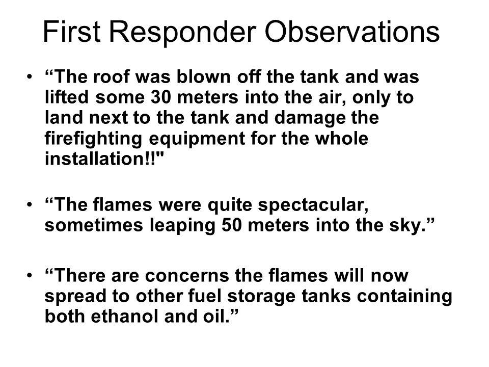 First Responder Observations