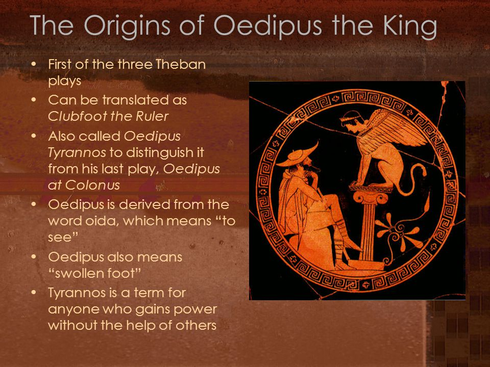 The Origins of Oedipus the King