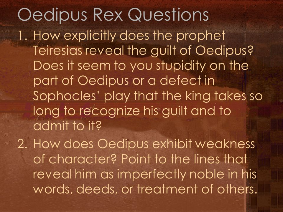 Oedipus Rex Questions