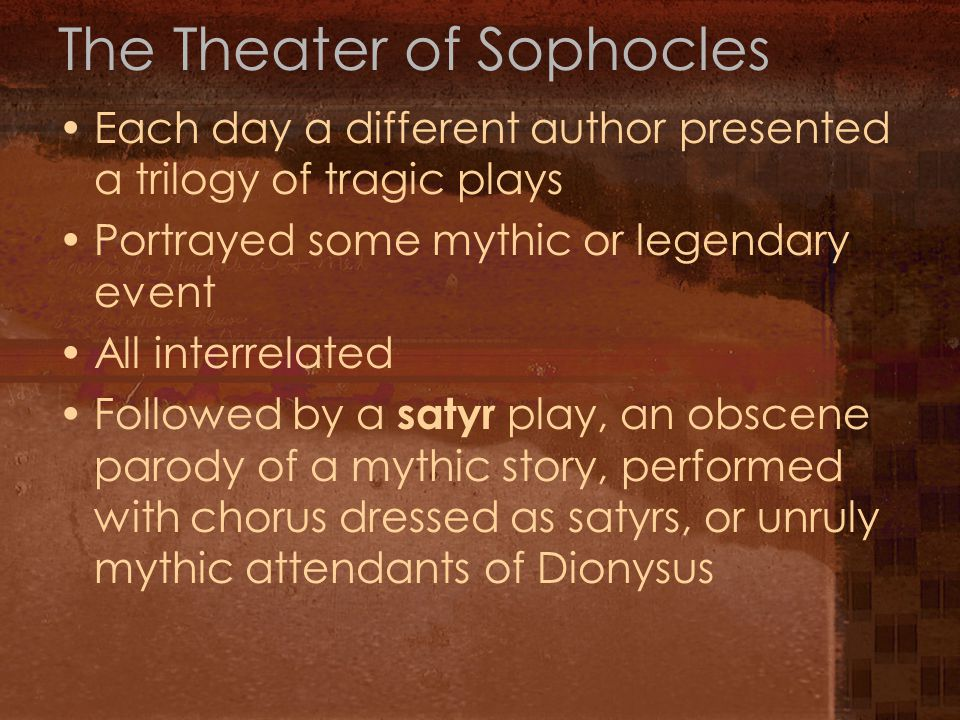 The Theater of Sophocles