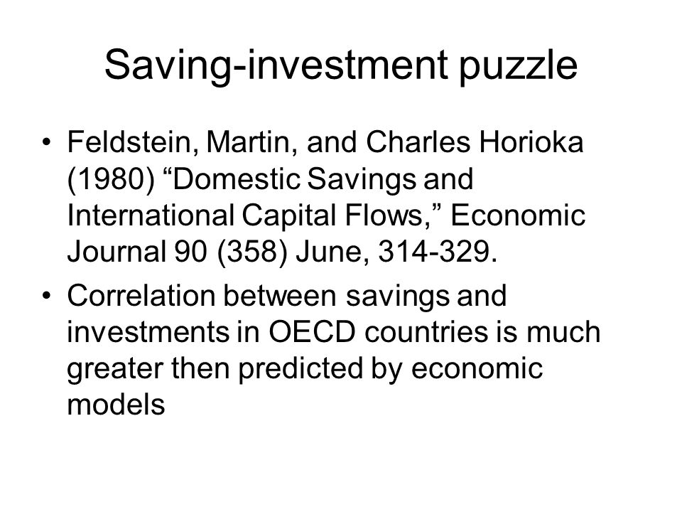 Saving-investment puzzle
