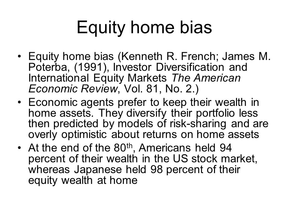 Equity home bias