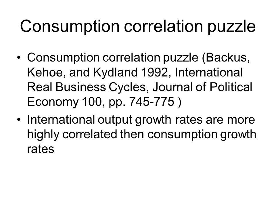 Consumption correlation puzzle