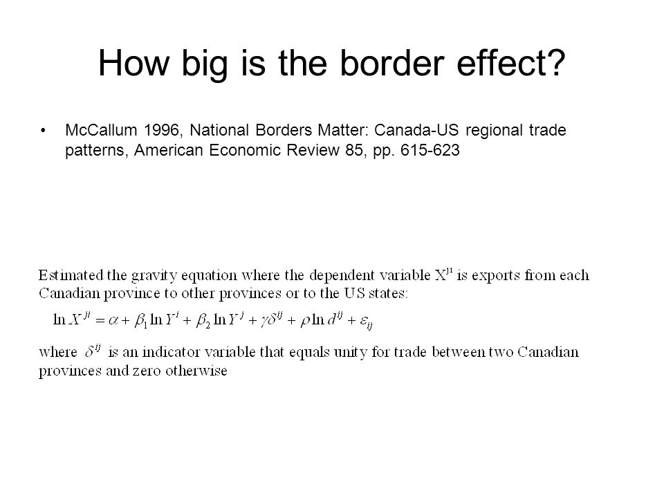 How big is the border effect