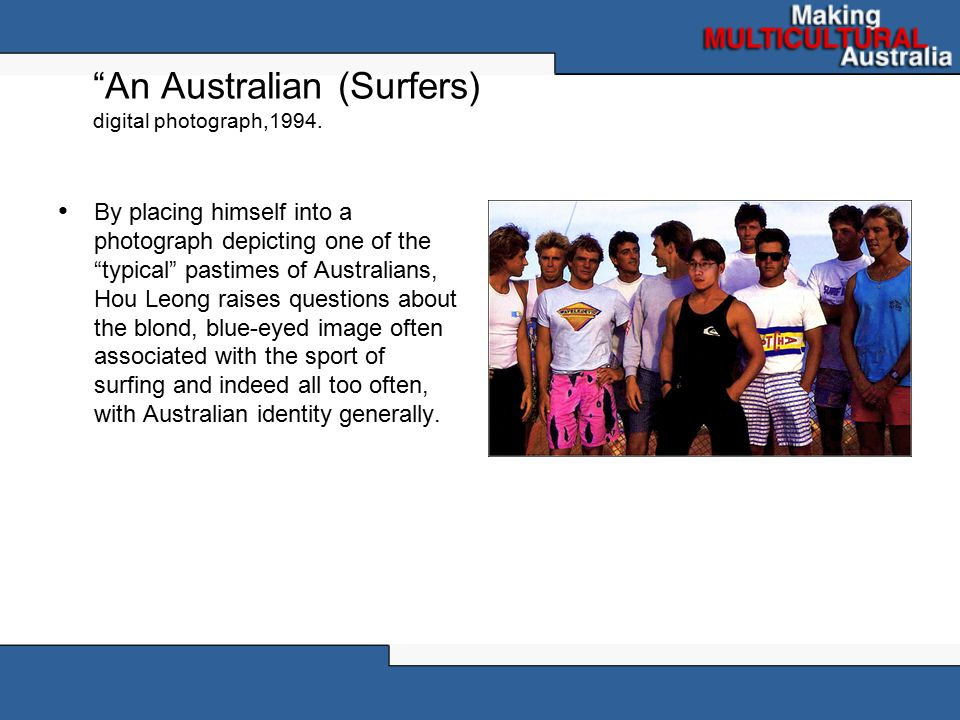 An Australian (Surfers) digital photograph,1994.