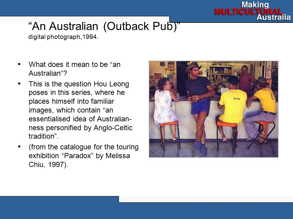 An Australian (Outback Pub) digital photograph,1994.