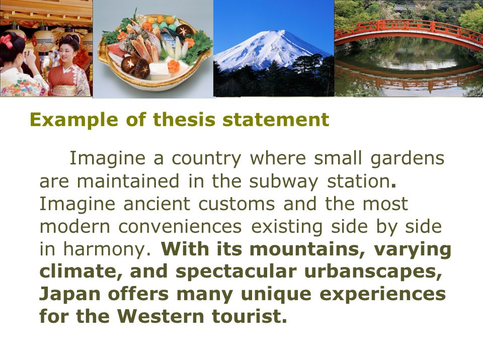 Example of thesis statement