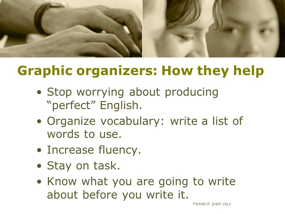 Graphic organizers: How they help