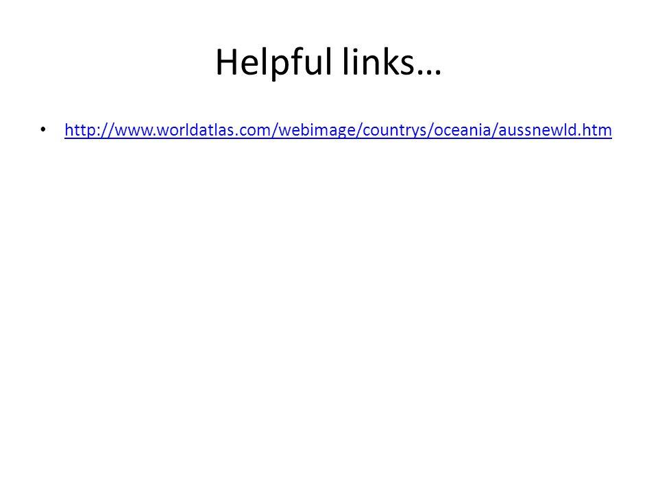 Helpful links… http://www.worldatlas.com/webimage/countrys/oceania/aussnewld.htm
