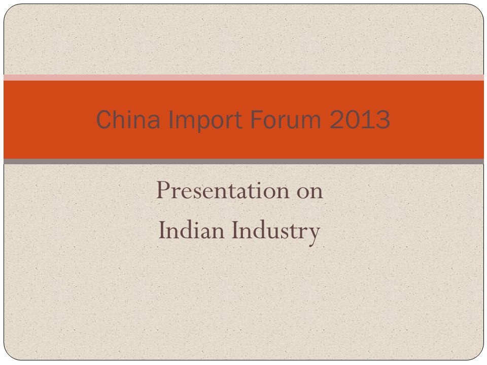 Presentation on Indian Industry