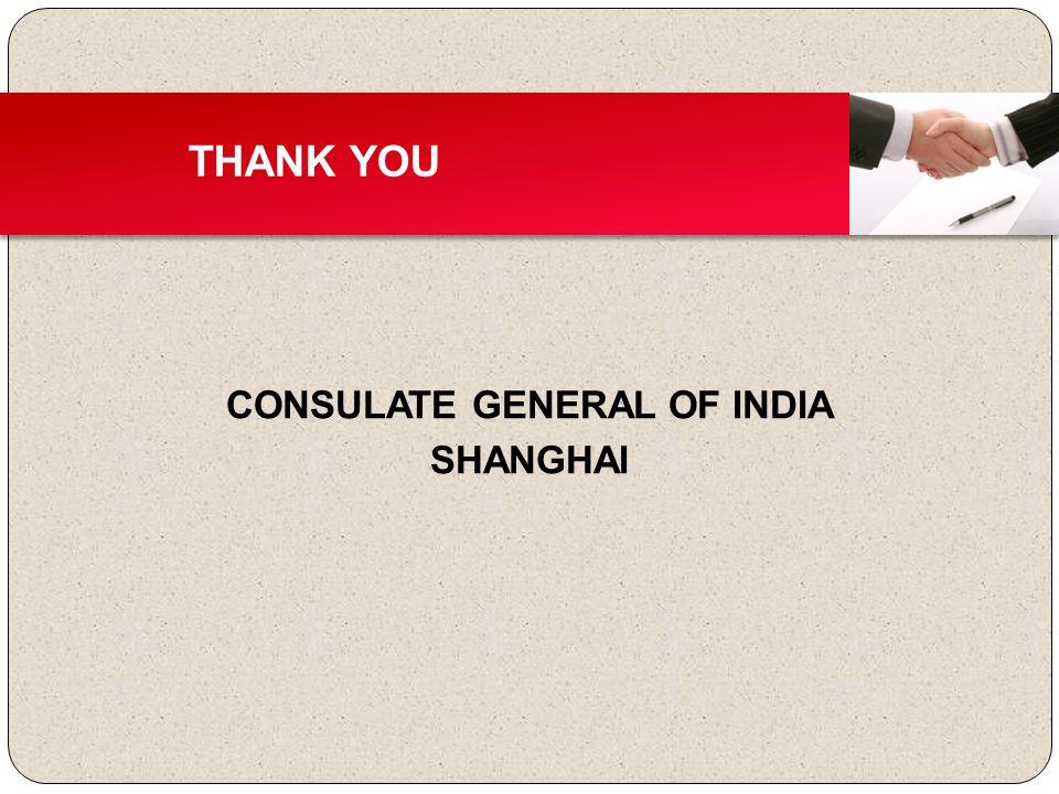 CONSULATE GENERAL OF INDIA SHANGHAI