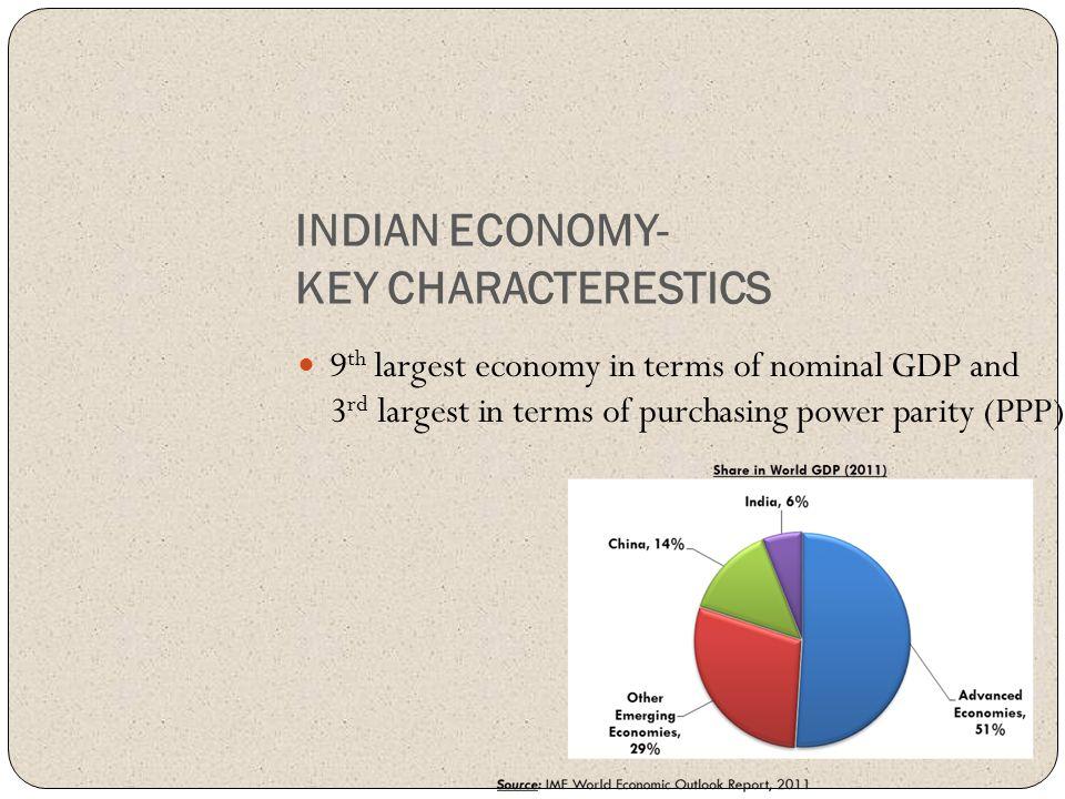 INDIAN ECONOMY- KEY CHARACTERESTICS