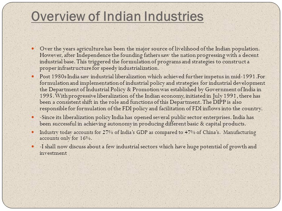 Overview of Indian Industries