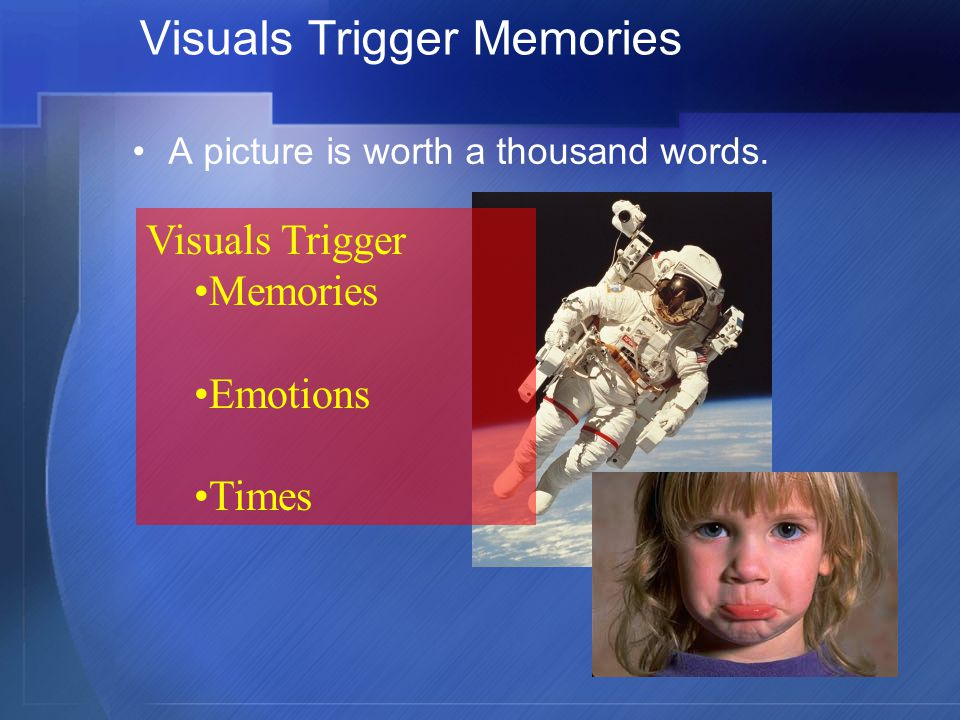 Visuals Trigger Memories