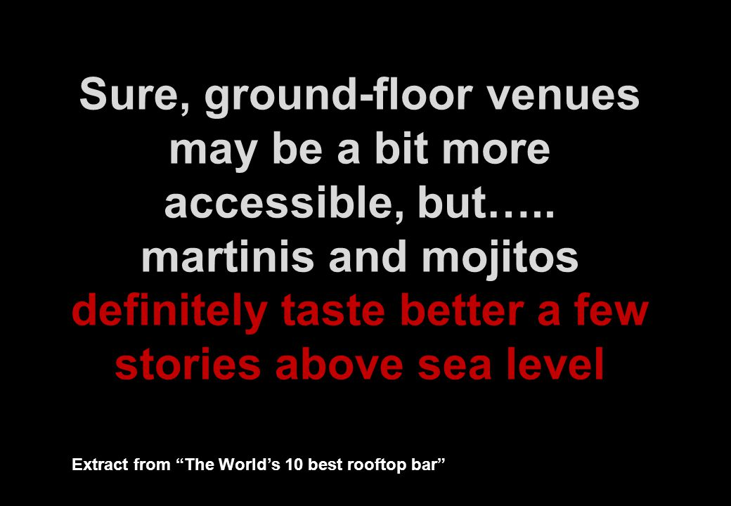 Sure, ground-floor venues may be a bit more accessible, but…..