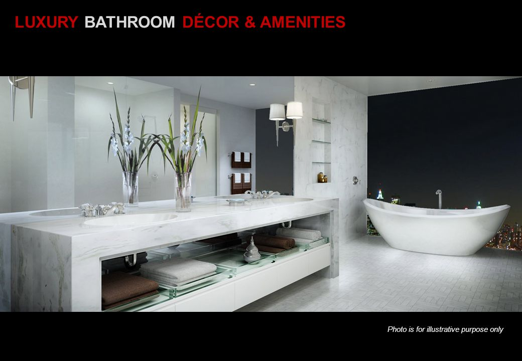 LUXURY BATHROOM DÉCOR & AMENITIES
