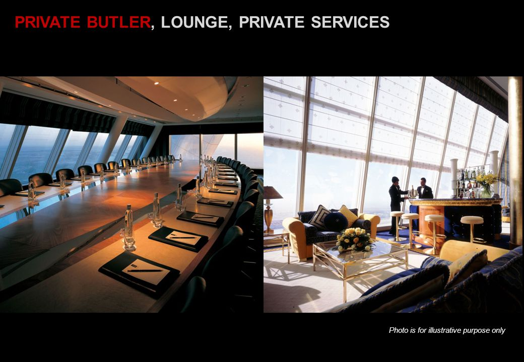 PRIVATE BUTLER, LOUNGE, PRIVATE SERVICES