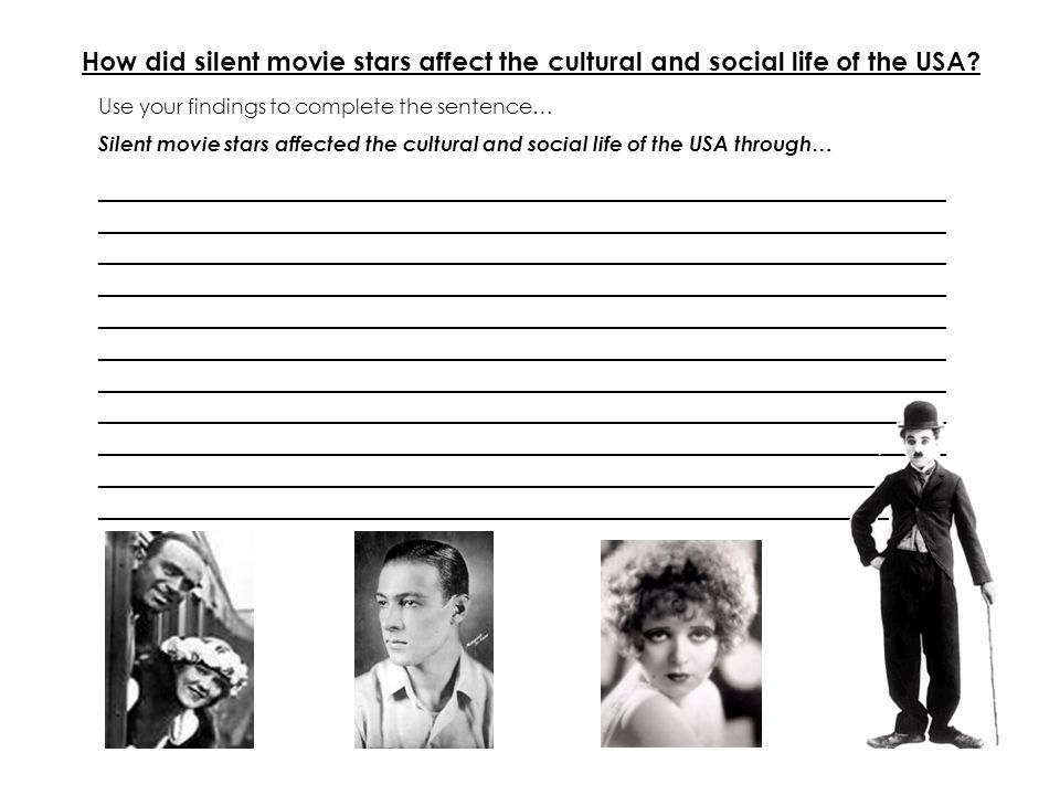How did silent movie stars affect the cultural and social life of the USA