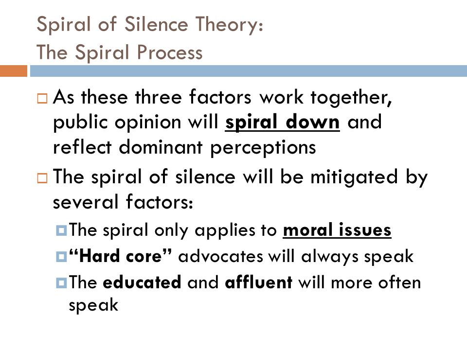 Spiral of Silence Theory: The Spiral Process